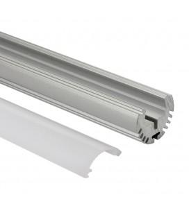 Profilé LED rond - Série O24 - 1,5 mètres - Aluminium - Diffuseur opaque