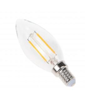 Ampoule filament LED Transparent - E14 - B35 - 2,5 W - SMD Epistar - Ecolife Lighting®