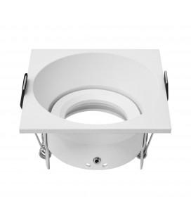 Support d'encastrement UGR - GU10 / MR16 Orientable - Carré - Blanc