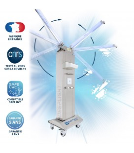 Robot Mobile UV-C DEEPLIGHT™ - 2 Bras - Powered by Philips - DeliTech Medical®