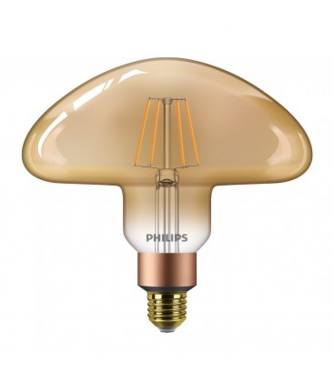Ampoule LED E27 Philips décorative en forme de champignon - LEDClassic 30W Mushroom E27 2000K GOLD D