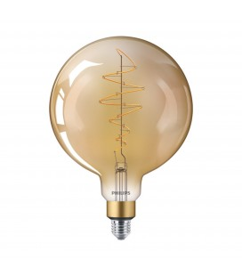 Ampoule LED E27 Philips décorative à filament - LED classic-giant 40W E27 G200 GOLD DIM