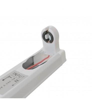 Réglette Slim pour tube LED T8 simple - Non étanche - 1200 mm - DeliTech®