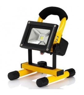 Projecteur LED Ecolife Rechargeable - 10W - Blanc Pur