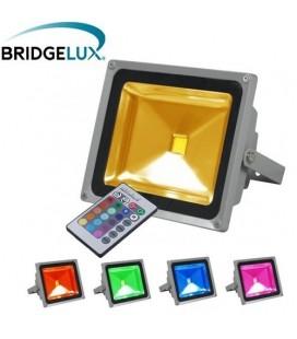 Projecteur LED Ecolife 240V - 30W - COB Bridgelux - RGB(IR)