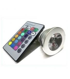 Ampoule LED GU10 - 4W - HP Bridgelux - RGB (IR)