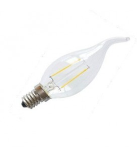 Ampoule LED E14 Flamme - 2.5W - Filament