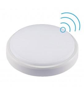 Hublot LED Rond avec détecteur - D211mm - 18W - SMD - Blanc Neutre