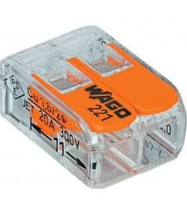 Borne Wago 221 mini  2X4mm2 à levier (boîte de 100 pièces)