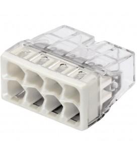 Borne wago 2273 - 8 x 0,5 à 2,5mm2  Transparent / Gris (boîte de 50 pièces)