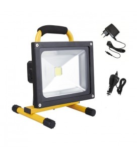Projecteur LED Ecolife Rechargeable - 30W - Blanc Pur
