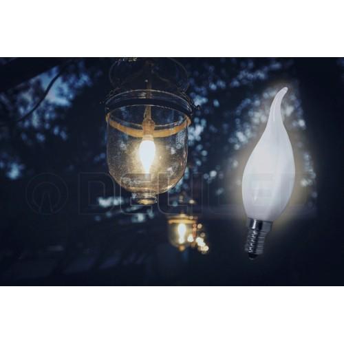 ampoule led e14 flamme 2 5w mat filament. Black Bedroom Furniture Sets. Home Design Ideas