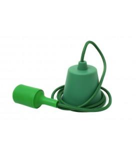 Suspension E27 - Câble textile Déco Vert