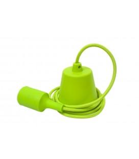 Suspension E27 - Câble textile Déco Vert Pomme