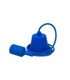 Suspension E27 - Câble textile Déco Bleu Nuit