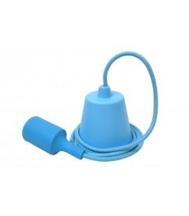 Suspension E27 - Câble textile Déco Bleu Ciel