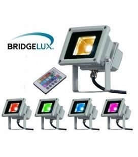 Projecteur LED Ecolife 240V - 10W - COB Bridgelux - RGB(IR)