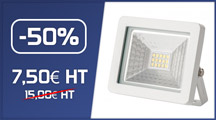 Projecteur LED - 10W - IP65 - WAVE - Ecolife Lighting®