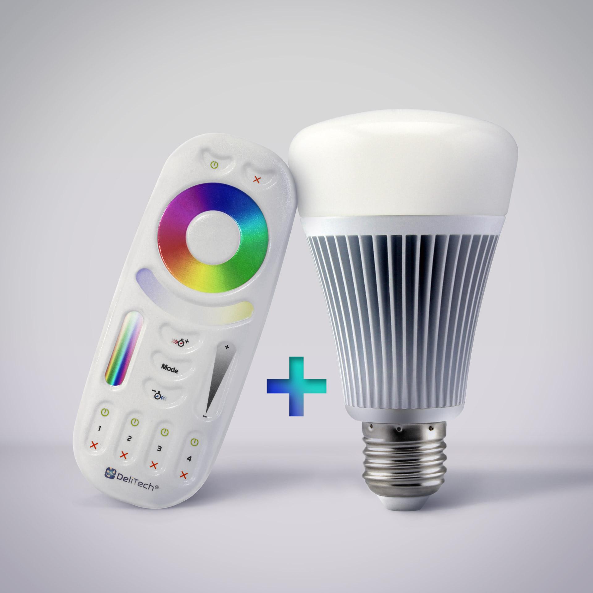 La télécommande radiofréquence et l'ampoule E27 Mastro™