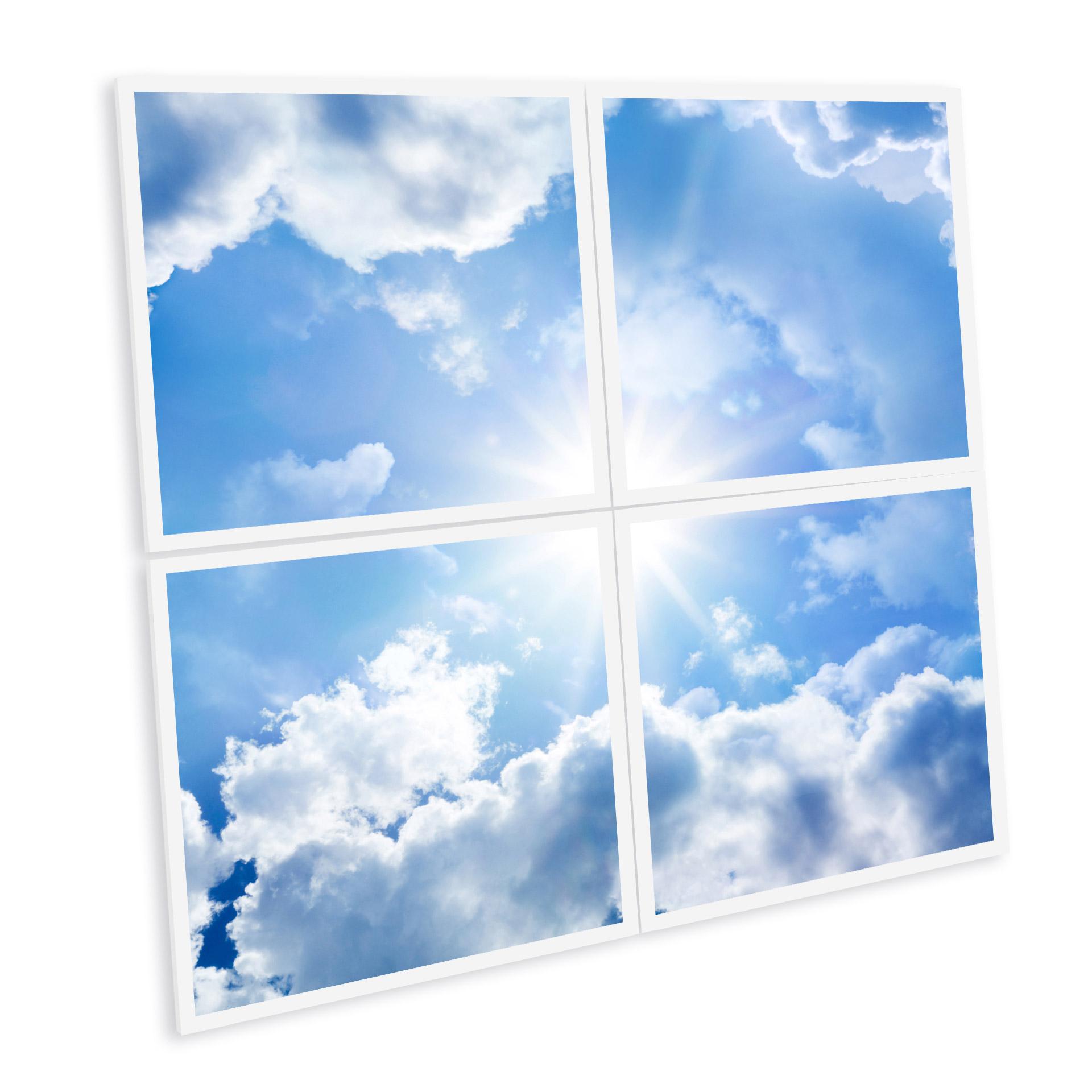 panneau led personnalisé ciel nuages