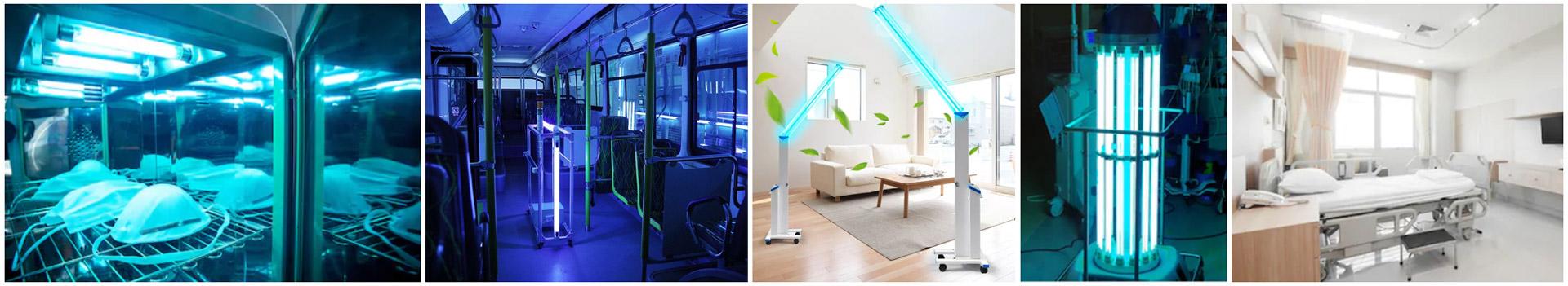 Les diverses apllication des UV-C dans les hopitaux, les transports en commun et les chambres.