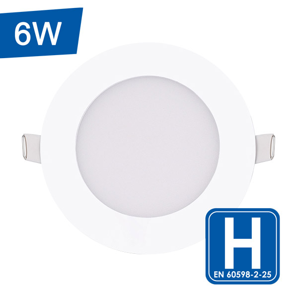 Encastrable LED blanc et rond plat