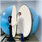 Un dispositif LED testé avec la sphère d'intégration de DELILED