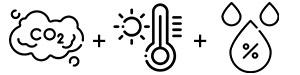 Détecteur de CO2, de température et d'humidité intégrés !