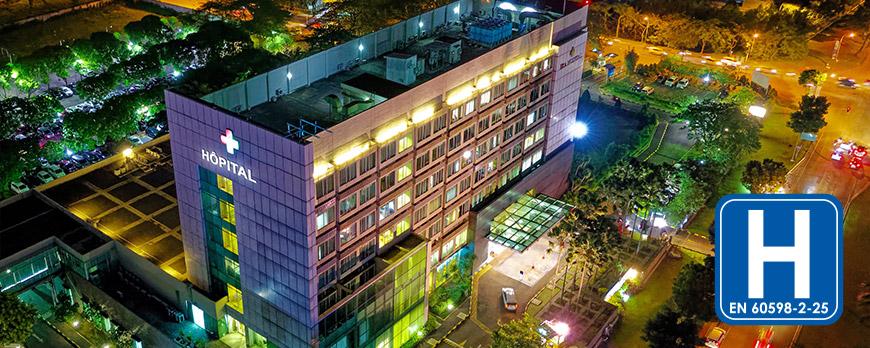 L'éclairage LED et la norme hospitalière EN60598-2-25